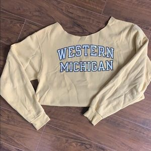 Crop crew neck western Michigan hoodie